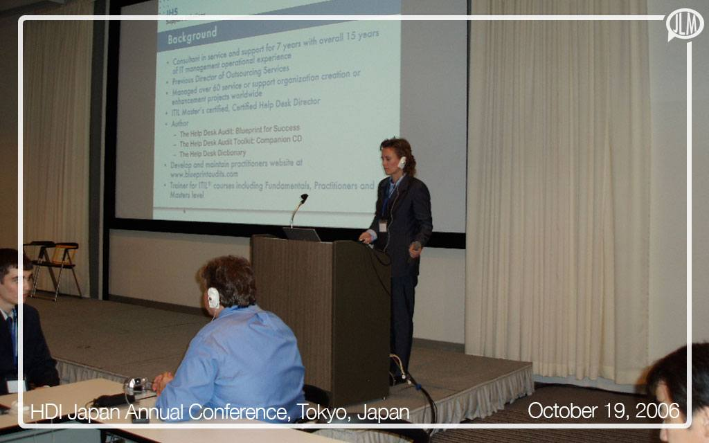 HDI Japan Keynote Presentation in Tokyo, Japan
