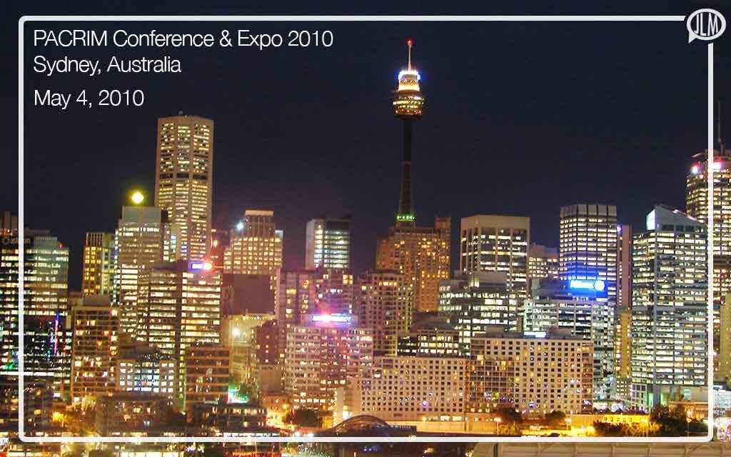 PACRIM Conference & Expo 2010, Sydney, Australia