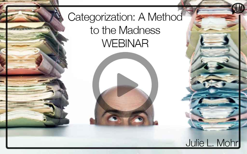 Categorization: A Method to the Madness WEBINAR