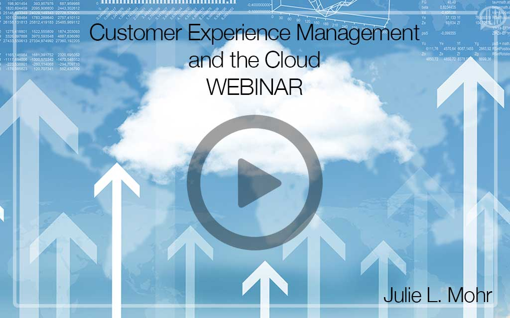 Customer Experience Management and the Cloud WEBINAR