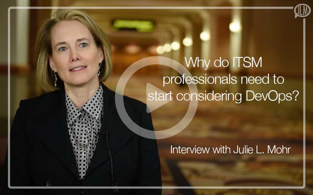 Interview about ITSM Professionals and DevOps