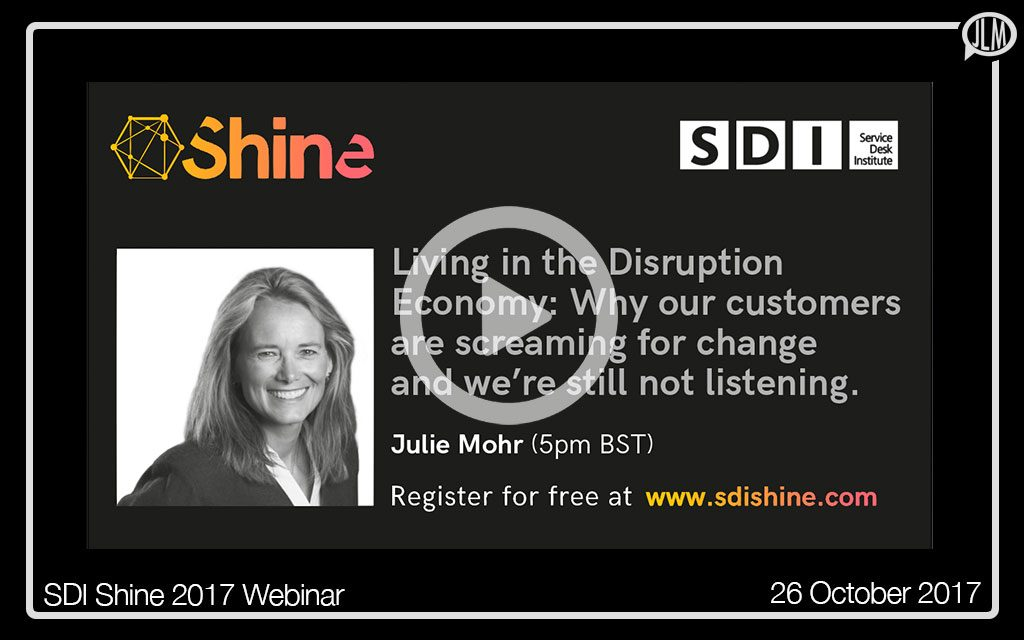 Living in the Disruption Economy SDI WEBINAR
