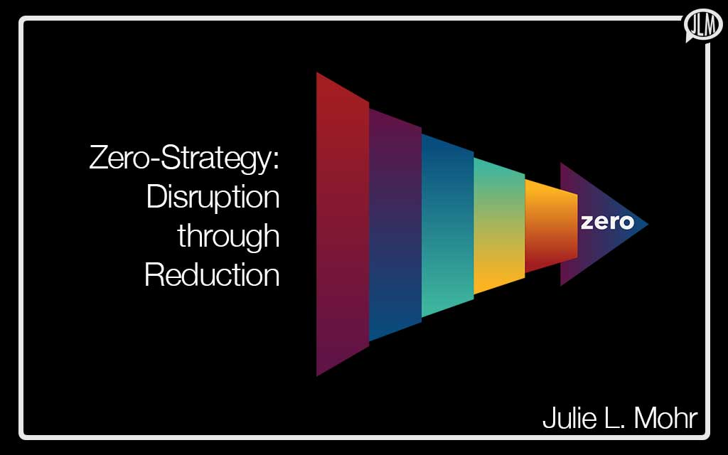 Zero-Strategy: Disruption through Reduction