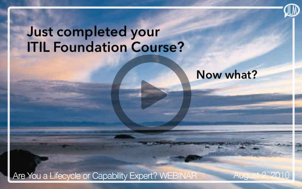 Are You a Lifecycle or Capability Expert? WEBINAR